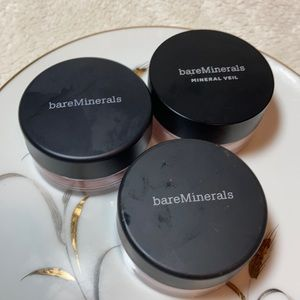 Bare Minerals 3 LOT mineral veil clear radiance